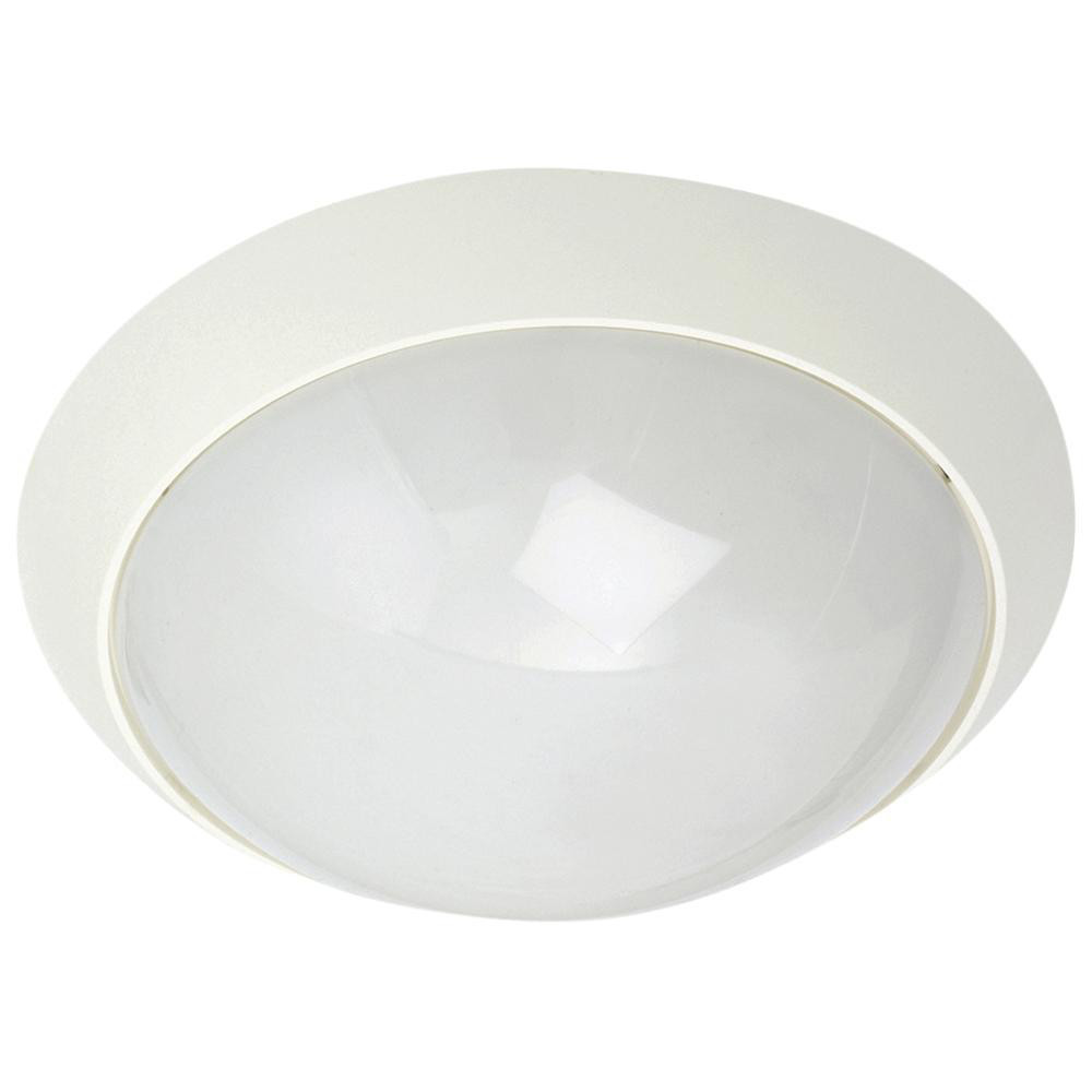 Enøk Alu Mat-Hvid E27 m/Sikring