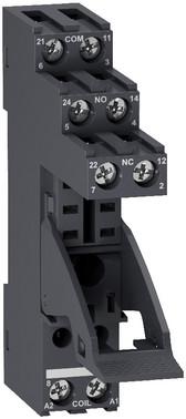 Sokkel for RXG relæer med 2 C/O kontakter og skrueterminaler RGZE1S48M