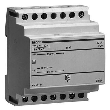 Sikkerhedstransformer 16VA 230/12/24V ST313