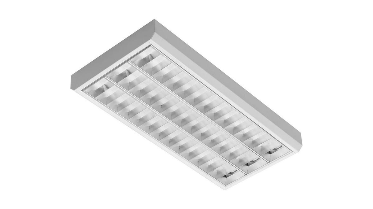 Classic 3S OMS 3150lm/31W/830 LED FIX 1198x290 nedhængt/påbyg blank reflektor hvid
