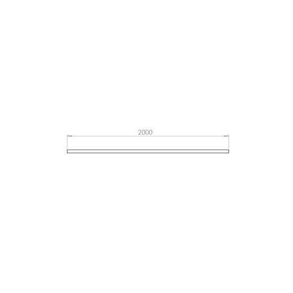 Zip Skinne Mat-Hvid 2m