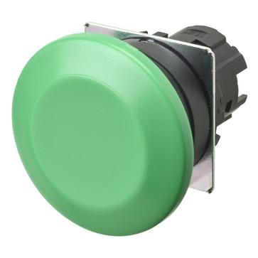 Trykknap A22NZ 22 dia., Bezel plast, champignon, momentan, kasket farve uigennemsigtig grøn A22NZ-BMM-NGA 665233