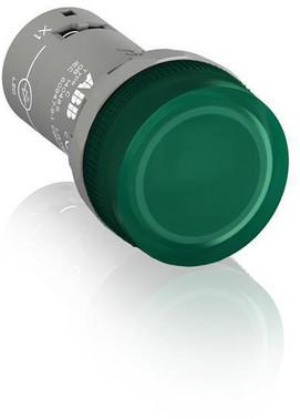 Grøn lampe med integreret LED 220V DC CL2-520G 1SFA619403R5202
