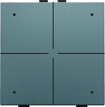 4-tryk med LED, steel grey coated, NHC 220-52004