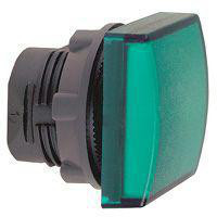 Harmony signallampehoved i plast for LED med firkantet linse i grøn farve ZB5CV033
