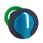 Harmony flush drejegreb i plast med et kort blåt greb med 3 positioner og fjeder-retur fra V-til-M ZB5FD706 miniature
