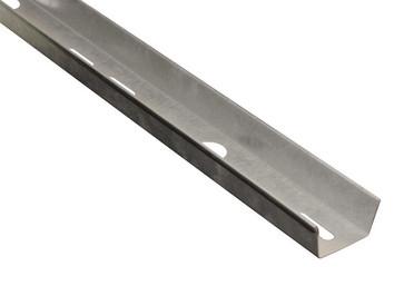 Databakke med huller rustfri 50mm (L=2M) 138R