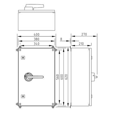 Katko EMC reparationsafbryder 3P+hjælpekontakt 200A,AiSi304 KUR3200T1.V/EMC