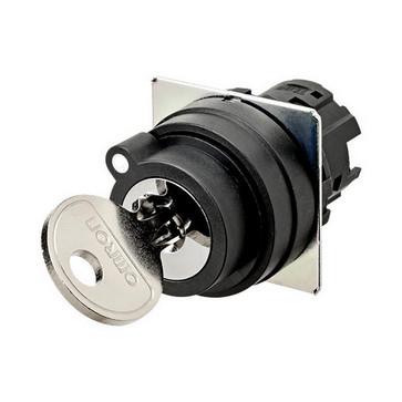 SelectorA22NZ 22 dia., Key type S, 2 position, bezel plast,Automatisk reset på venstre, slip position til venstre A22NZ-2BL-01BA 661994