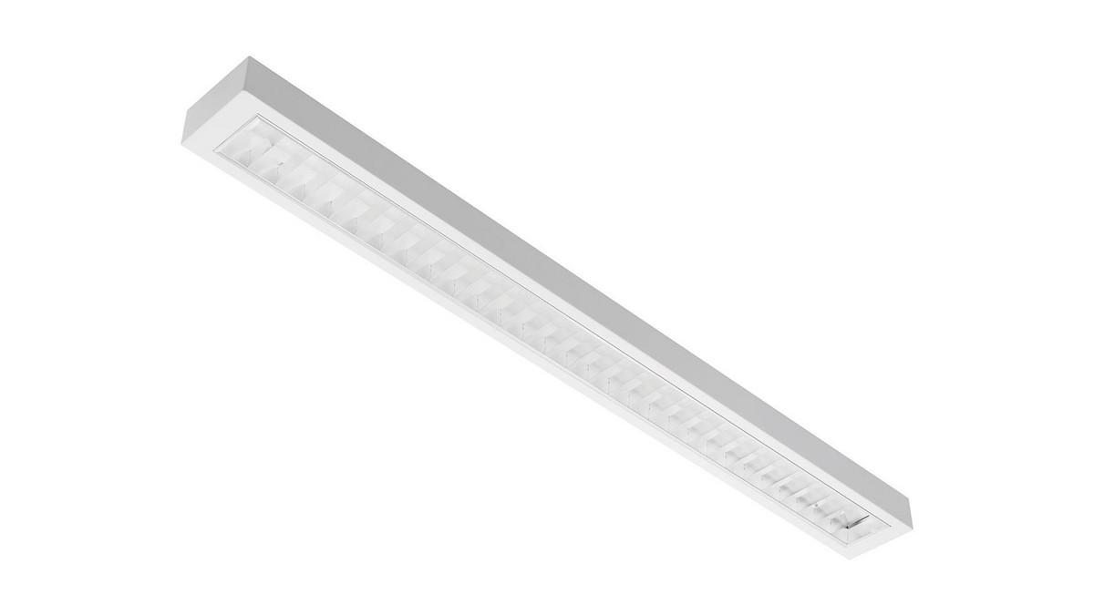 Modul LMD OMS 2450lm/17W/840 LED Fix 1234 mm nedhængt/påbyg dobbeltparabolsk gitter
