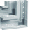 Fladvinkel plast for BR65210D RAL 7035 BR652105D7035 miniature