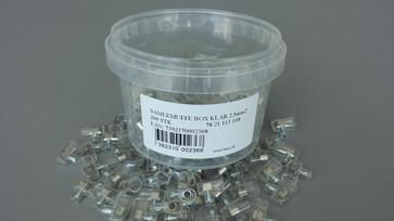 Samlemuffe klar enkelt lige kærv 2,5mm² P=200stk HE25-1/P
