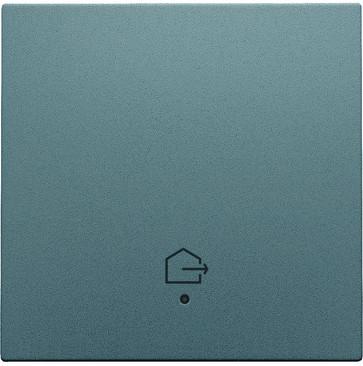 """Tangent med LED, med """"forlad hjem"""" symbol, steel grey coated 220-32902"""