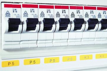 Componentlabel 15 x 9 yellow for TT431 printer 596-12174