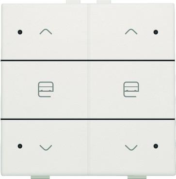 Motortryk dobbelt med LED, white, NHC 101-52036