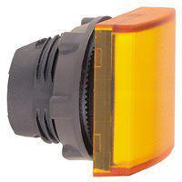 Harmony signallampehoved i plast for LED med firkantet linse i orange farve ZB5CV053
