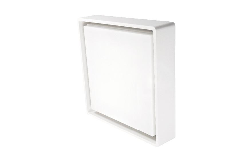 Frame Square Maxi Hvid LED 3000K Nødlys