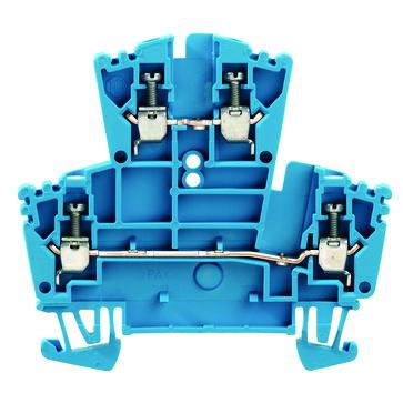 Dobbeltklemme WDK 2,5 blå skrue/skrue 102158 1021580000