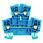 Dobbeltklemme WDK 2,5 blå skrue/skrue 102158 1021580000 miniature