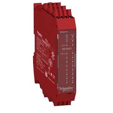 Udvidelsesmodul, 16 stk Konfigurerbar status Output  (SIL 1/PL c i overensstemmelse med EN 61508:2010) med fjeder terminaler XPSMCMDO0016C1G