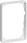 LK FUGA Baseline 50 ramme 1½ modul, hvid 500D6815 miniature