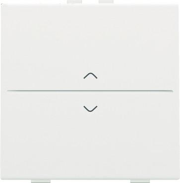 Tangent med pil symboler til 2-tryk, white coated 154-00004