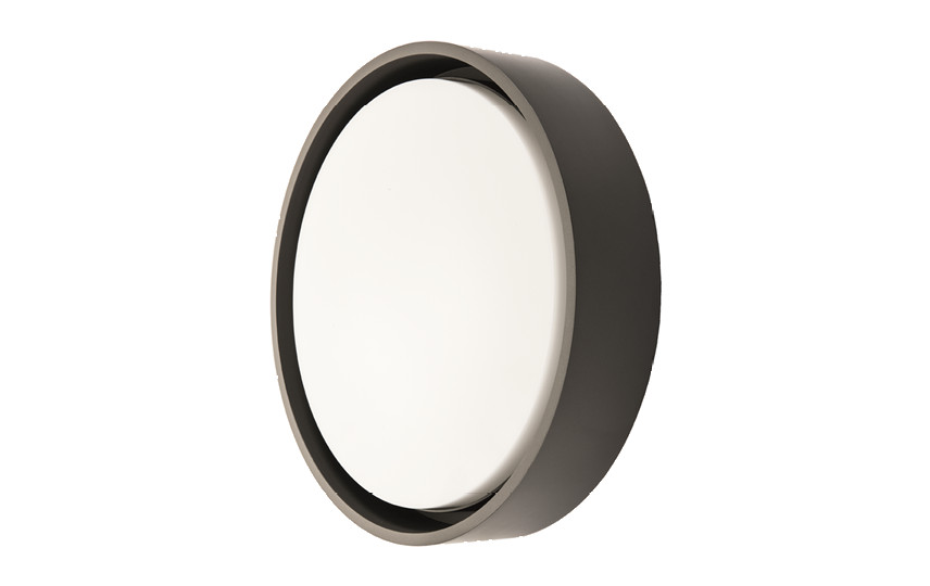 Frame Round Maxi Sort LED 3000K Nødlys