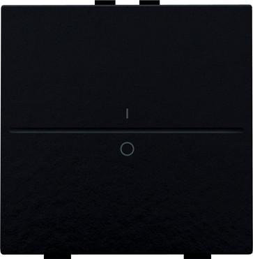 Tangent med IO symedbol til 2-tryk, Bakelite® piano black coated 200-00002