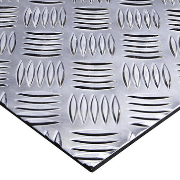 Aluminium dørkplade 5754 H114 med quintet mønster 2000x1000x5 mm