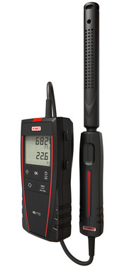 Portable CO2-Meter with CO2 / Temperature remote probe, 2m cable (0 to 5000 ppm and 0 + 50°C), 5706445790531