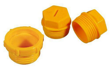 "Screw-on protection plug R3/8""x19 PEHD yellow 82 03000"