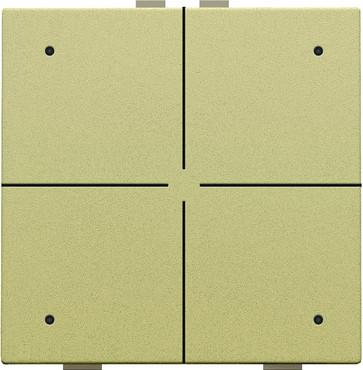 4-tryk med LED, gold coated, NHC 221-52004
