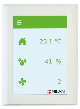 Nilan Comfort CT500 HMI med CTS602 styring indblæsning højre 7110520