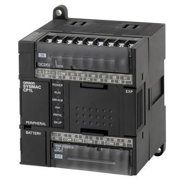 PLC, 24VDC forsyning, 12x24VDC input, 8xrelæudgange 2A, 5K trin program + 10K-ord datalager CP1L-L20DR-D 668692