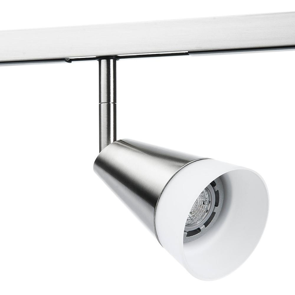 Zip Glas Spot Børstet stål 6W LED 2700K