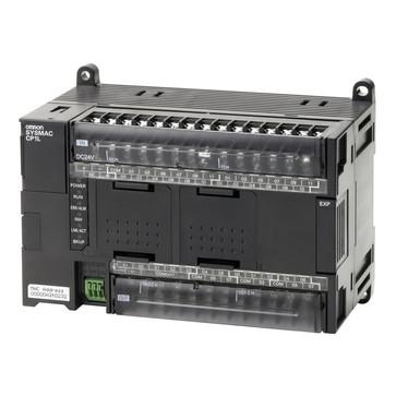 PLC, 24VDC forsyning, 24x24VDC indgange, 16xPNP udgange 0,3A, 2xanaloge indgange, 10K trin program + 32K-ord datalager, 1xEthernet-port CP1L-EM40DT1-D 667991