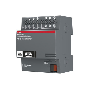 Aktuator VARMESTYRING 6x160mA DIN4M HA-M-0.6.1 2CDG510008R0011
