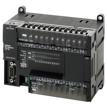 PLC, 100-240 VAC forsyning, 18x24VDC input, 12xrelæudgange 2A, 8K trin program + 8K-ord datalager, RS-232C og RS-485 (halv dupleks) port CP1E-N30S1DR-A 377333